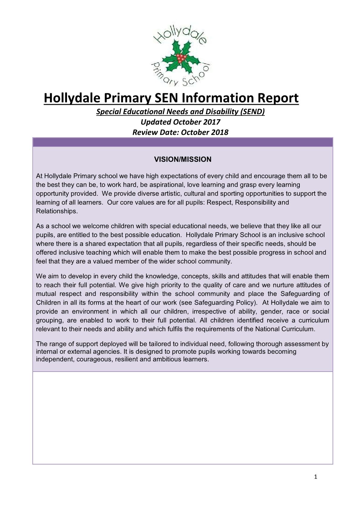 SEN Report