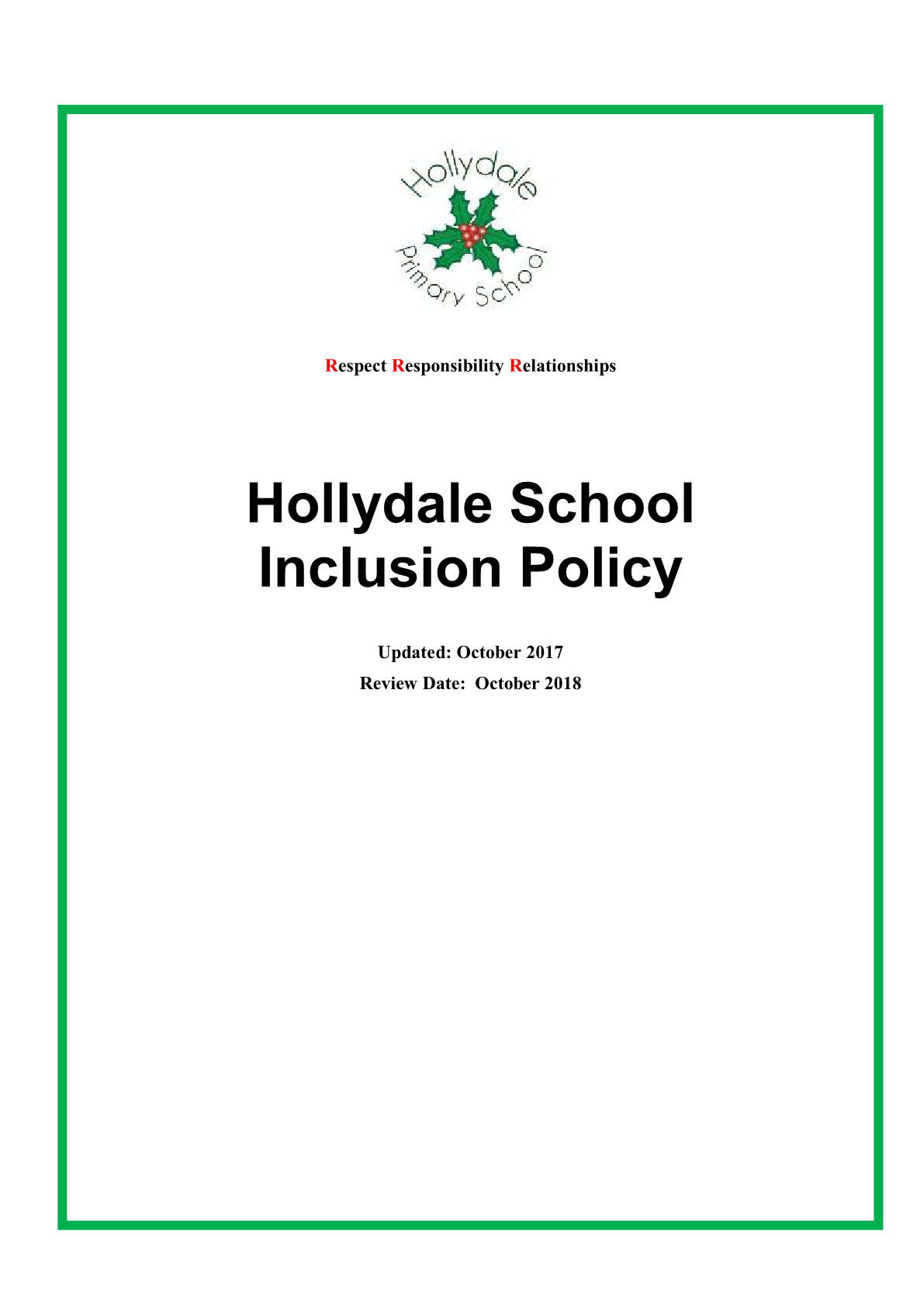 Inclusion Policy