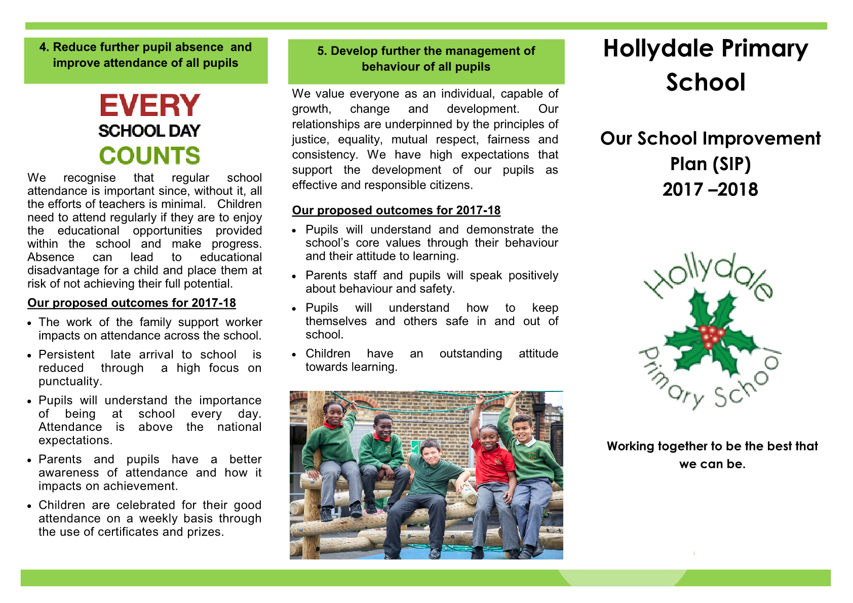 School Improvement Plan Booklet for Parents