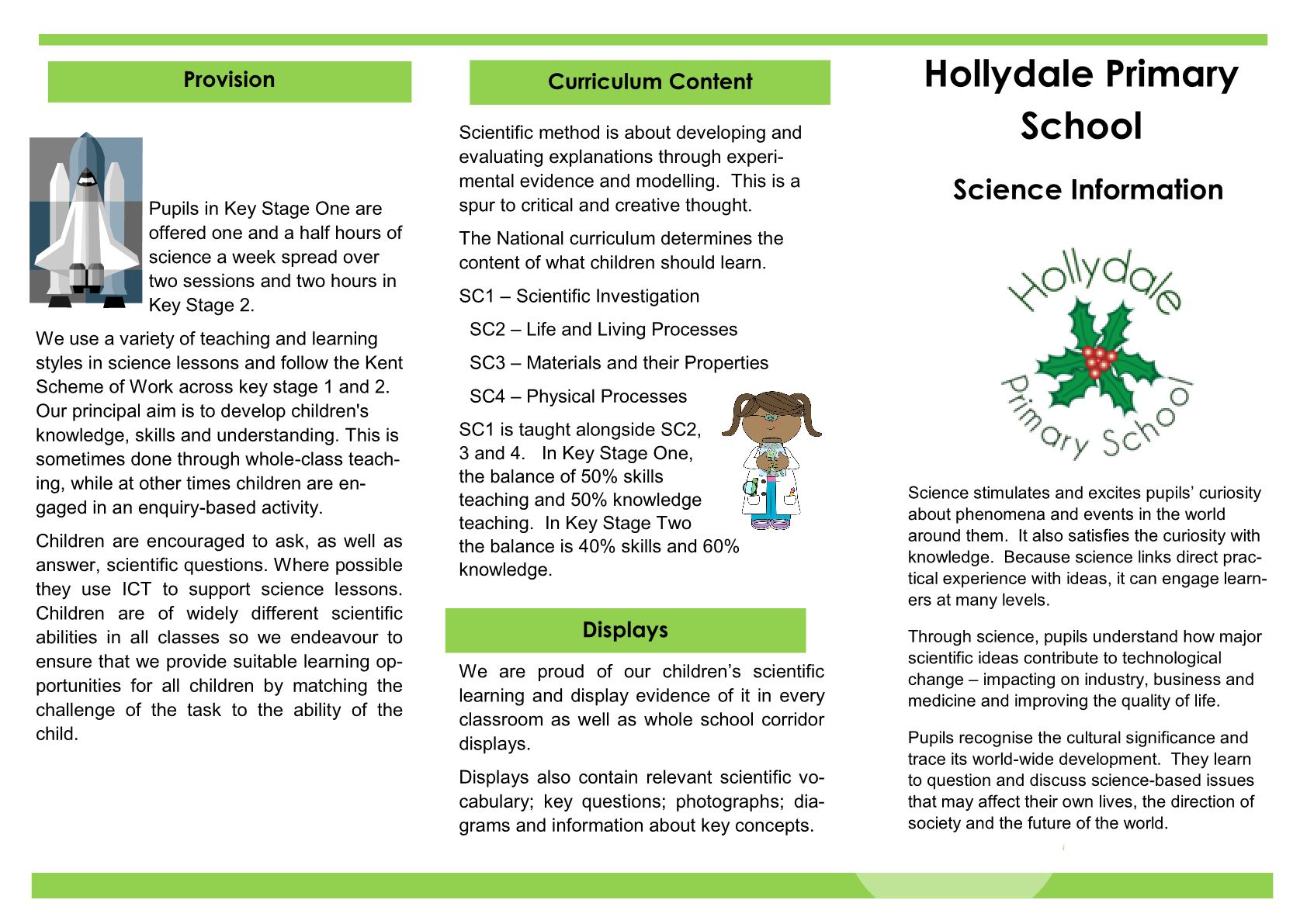 Science Booklet for Parents