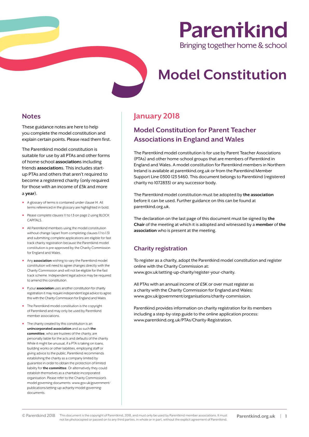 Current Model Constitution