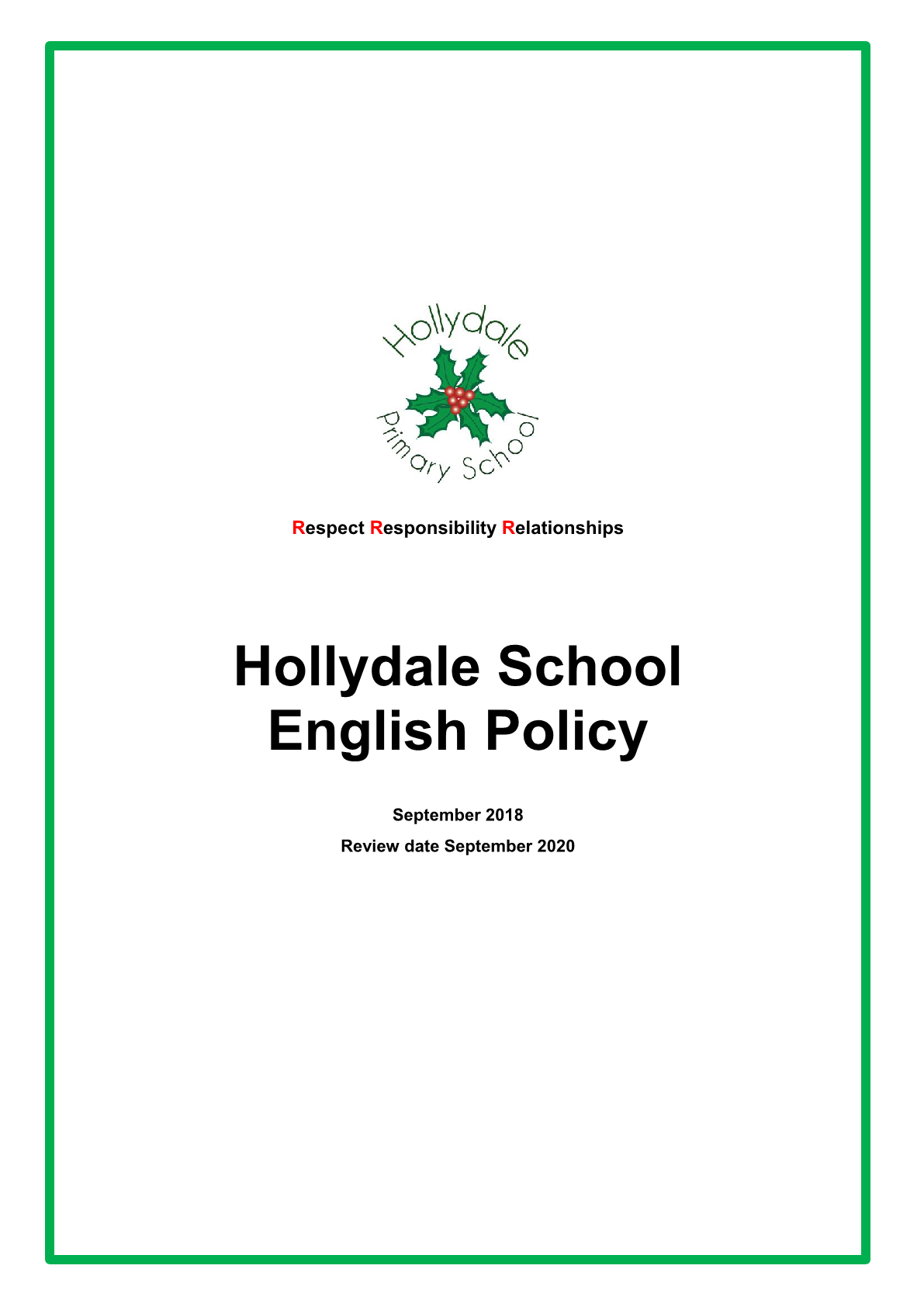 English Policy