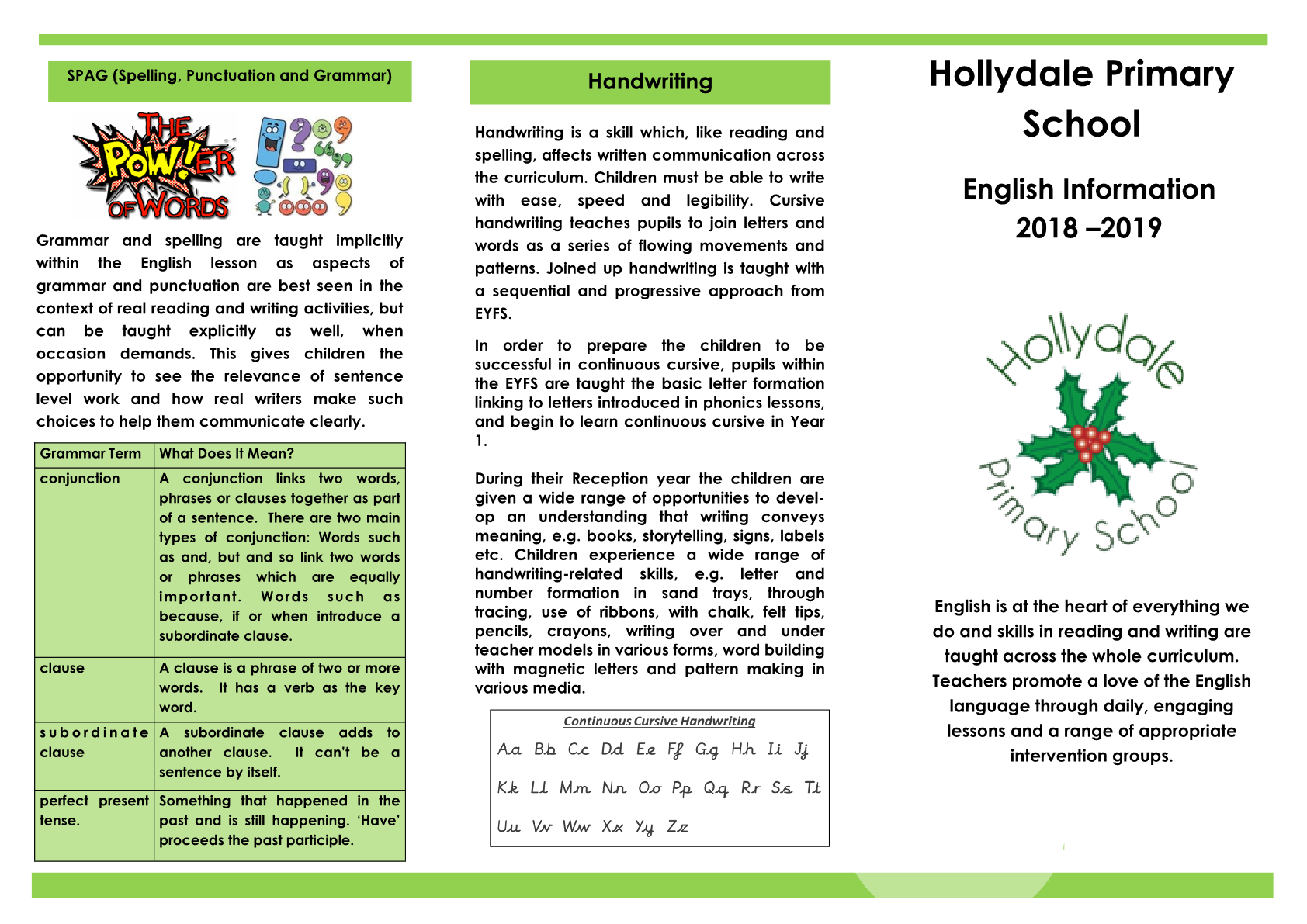 English Booklet for Parents